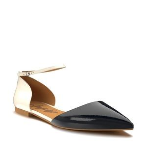Shoes Of Prey D'Orsay Black & White Flat Size 10